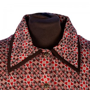 Wonderful 60s shift dress with geometric heart detail from The Vintage Wardrobe