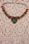 1970s Coral & Turquoise Necklace