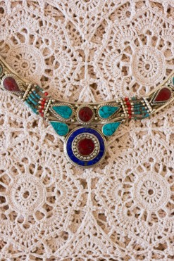 1970s Tibetan Target Point Necklace