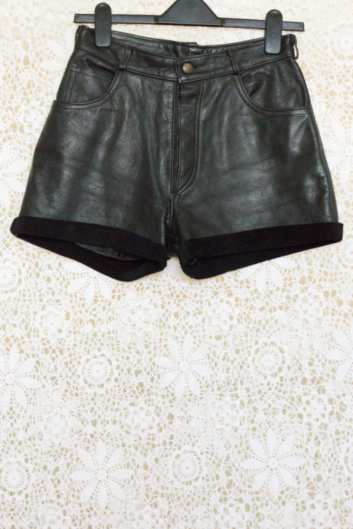 1990s Leather Suede Shorts