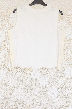 1980s Lace Scallop Top