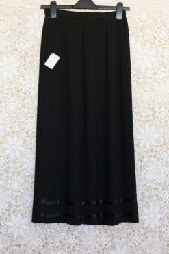 1980s Pleated Maxi Skirt