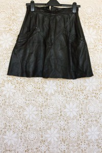 1990s Leather A-Line Skirt