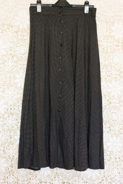 1990s Polka Dot Maxi Skirt