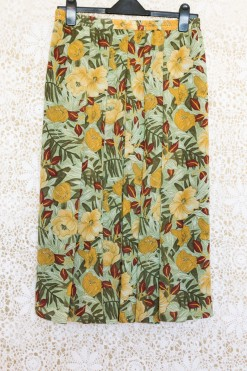1990s Tropical Chiffon Skirt