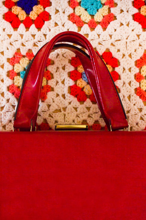 1960s Cherry Box Bag