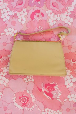 1960s Cream Kelly Bag