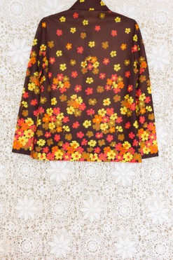 70s Floral Collared Shirt