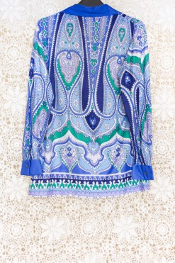 70s Paisley Tunic Top