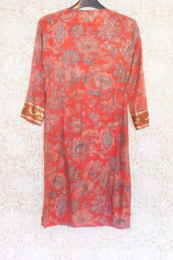 70s Sequin Paisley Dress