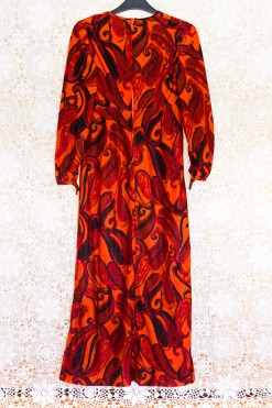 70s Velvet Psychedelic Dress