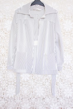 70s Striped Statement Collar Jacket
