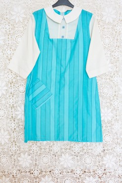 60s Peter Pan Striped Dress