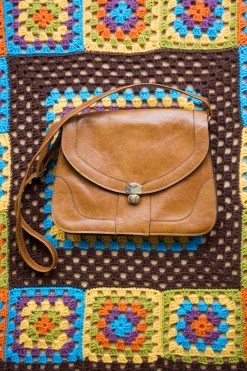 70s Tan Satchel
