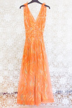 70s Sheer Psychedelic Jumpsuit