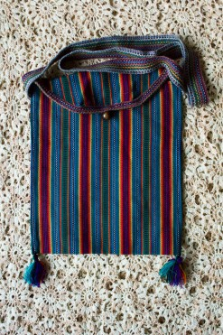 90s Rainbow Striped Bag