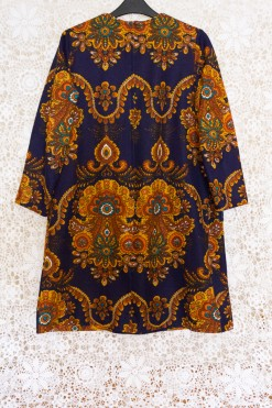 60s Baroque Print Dress