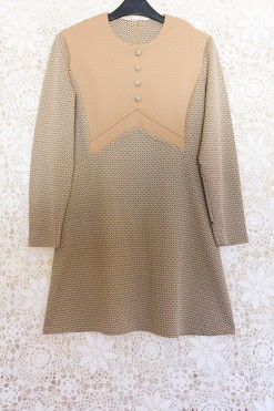 60s Camel Shift Dress