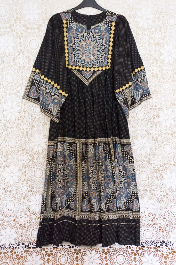 70s Afghan Mandala Dress
