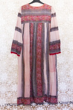 70s Indian Striped Dress