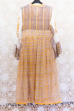 70s Indian Yellow Dress