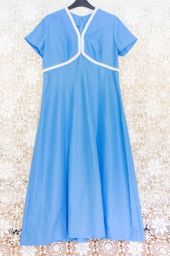 60s Empire Maxi Dress