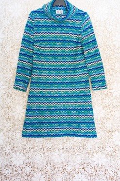60s Zig Zag Shift Dress