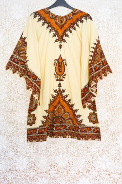 70s Angel Sleeve Kaftan Dress