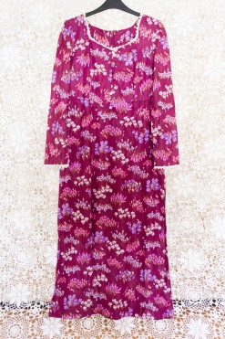 70s Floral Dreams Maxi Dress