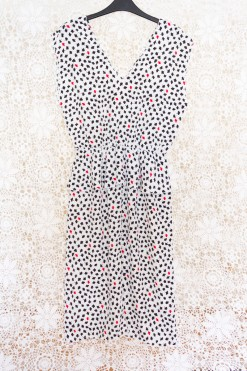 80s Clover Peplum Dress