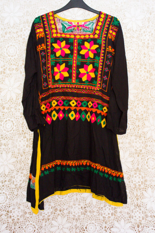 90s Embroidered Indian Dress