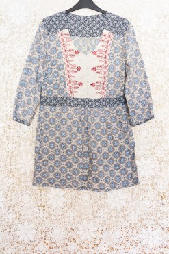 90s Embroidered Tunic Dress