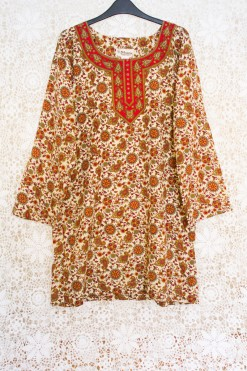 90s Indian Paisley Dress