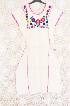70s Mexican Embroidered Dress