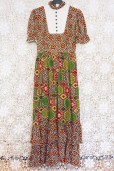70s Patchwork Prairie Dress