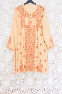 90s Paisley Embroidered Dress