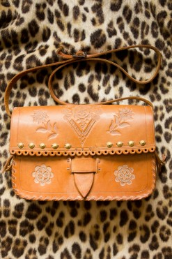 70s Studded Tooled Satchel