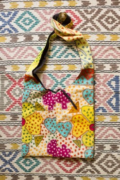 90s Colourful Patchwork Bag