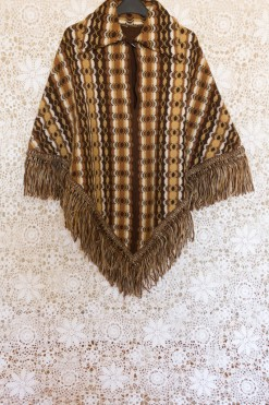 70s Camel Striped Cape