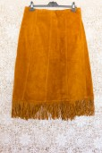 70s Fringed Suede Skirt