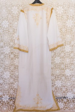 70s Gold Embroidered Kaftan Maxi Dress