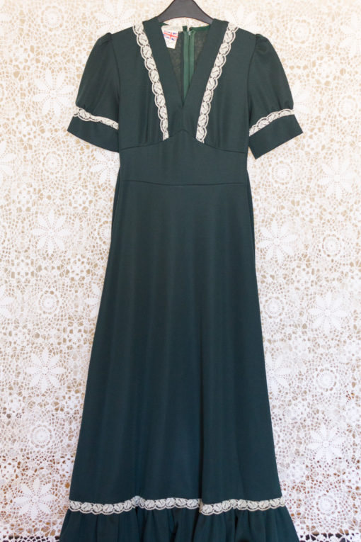 70s Lace Babydoll Maxi Dress