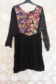 90s Floral Patchwork Dress