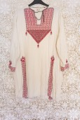 70s Embroidered Tunic Dress