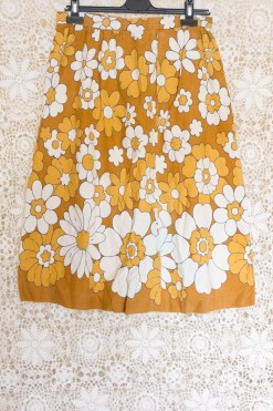 70s Floral Circle Skirt