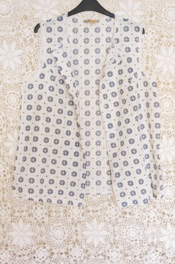 60s Floral Lace Waistcoat