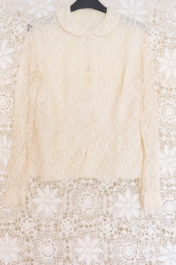 60s Lace Peter Pan Blouse