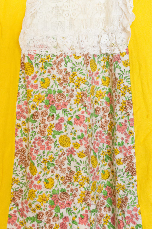 70s Floral Patchwork Maxi Skirt