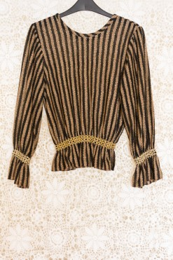 90s Metallic Striped Jumper