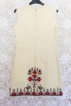 60s Embroidered Shift Dress
